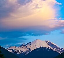 Clouds over Mount Rainier by RavenFalls