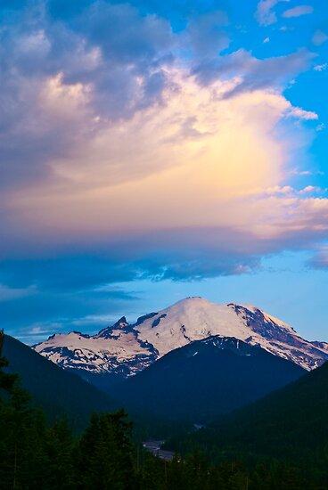 Clouds over Mount Rainier by RavenFalls