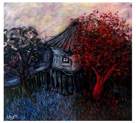 red tree by glennbrady