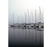 Foggy Yacht Club Photographic Print