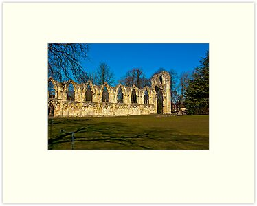 Ruins of St Mary's Abbey  -  York by Trevor Kersley
