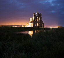 Whitby Abbey by Night by ThePingedHobbit