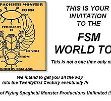 Flying Spaghetti Monster World Tour by redqueenself