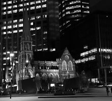 Monochrome Church by SunnieGal