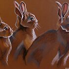 Three Rabbits by MegJay