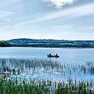 Fishing On Lake Carmi by Deborah  Benoit
