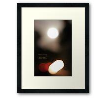 bonfires by moonlight Framed Print