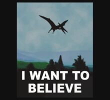 I WANT TO BELIEVE Dinosaur X-Files by jezkemp