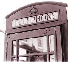 English Telephone Box by Michael  Addison