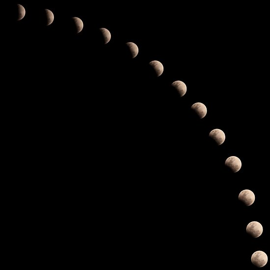 Partial Lunar Eclipse by David de Groot
