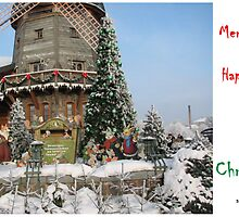 Christmas Holiday Card 5540 - Santa's Grain Mill LIDO Riga Latvia by FirstTree