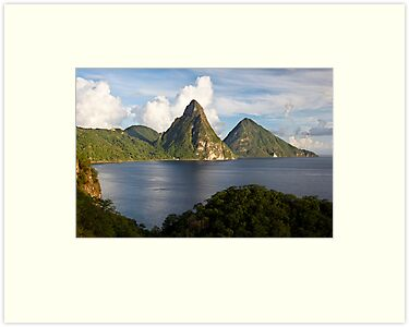 Pitons Bay by Norbert Probst