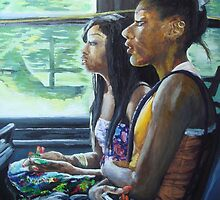 Two Girls on TTC by Charles Wang