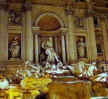 Trevi Fountain, Rome, Italy by Al Bourassa