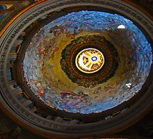 Interior Dome II, St Peter's Basilica, The Vatican by Al Bourassa