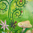 Detail of Cravan mural by Amanda Gazidis