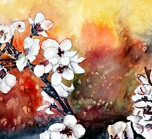 modern abstract japanese cherry blossom prints by derekmccrea