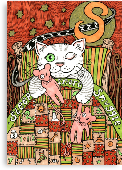 The Ministers Cat Was A Sleeping, Snoring, Snuggling Cat by Anita Inverarity