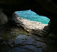 Bruce Peninsula National Park Natural Arch, Georgian Bay, Ontario, Canada by Jeannine St-Amour