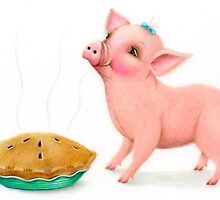 Little Pig's Bliss - The Smell of Apple Pie by Karen  Hull