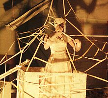 Kathy Morgan performance artist at ANZART in Hobart 1983 by ArtUnit