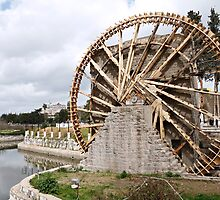 Water wheel or noria in Hama, Syria by tmyusof