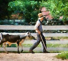 Cow -The farmer and the dell  by Mike  Savad