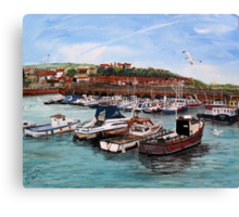 Folkestone (Kent) Harbour Canvas Print