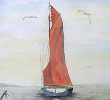 Sailing Barge from Whitstable by Juanita Newton