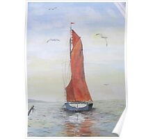 Sailing Barge from Whitstable Poster
