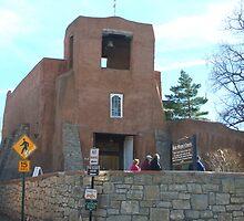 San Miguel Church in Santa Fe by Laurel Talabere