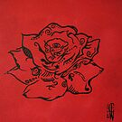 Rose Doodle by Claire Watson