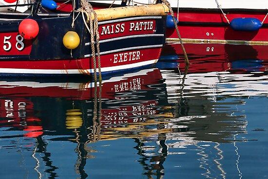 Miss Pattie ~ Lyme Regis Harbour by Susie Peek