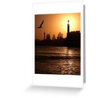 Dawn with duststorm, Dubai Greeting Card