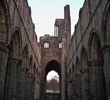 Kirkstall Abbey Inside By Robert Beeton by robbeeton