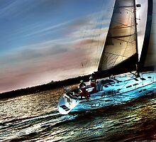 Boat Water Sky by linaji