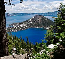 Crater Lake National Park - Wizard Island by Joe Thill