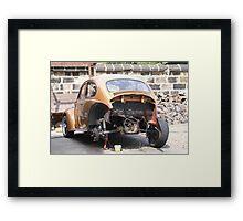 Poorly Beetle Framed Print