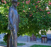 Statue of Ivan Trush, ukrainian artist. L'viv, Ukraine by Anastasiya Smirnova