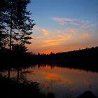 Lake Serene at Sunset by tigerwings