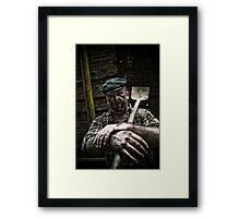 Hard Working Man Framed Print