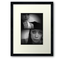 self portrait IV - in which the model takes a self-portrait Framed Print