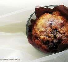 GOURMET RASPBERRY CHOCOLATE MUFFIN II by Laura E  Shafer