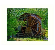 The Olde Waterwheel Art Print