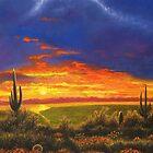 arizona sunset by Howard Searchfield