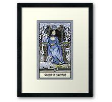 Queen of Swords, Card Framed Print