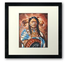 Red Arm Panther Framed Print