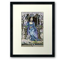 Queen of Swords Framed Print