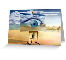 An eye with a view Greeting Card