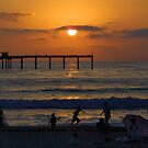 Sunset in Ocean Beach, California by Dave Stephens
